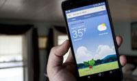 گوگل و بهبود بخشیدن به برنامه هواشناسی خود در اندروید