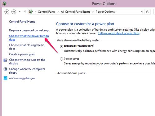 رفع مشکل خاموش نشدن ویندوز 10 با Choose what the power button does