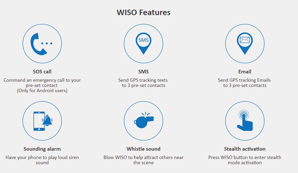 حالتهای مختلف سوت هوشمند WISO مدل ASI-801 SAFSMART