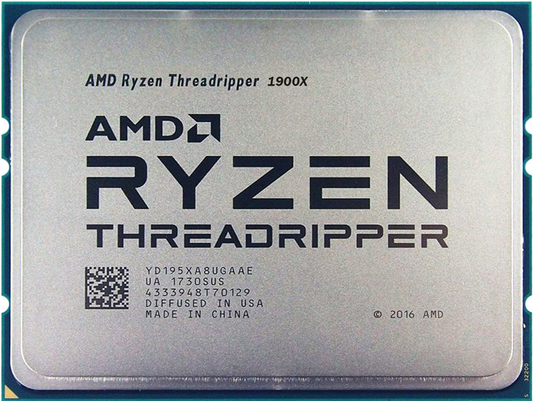 پردازنده Ryzen Threadripper 1900X شرکت ای ام دی